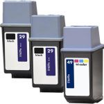 HP 49 Tricolor & HP 29 Black Ink Cartridges 3-Pack