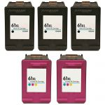 HP 61XL Ink Combo Pack of 5 Cartridges