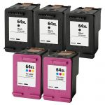 HP 64XL Ink Cartridges Combo Pack of 5