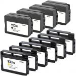 High Yield HP 932 Ink XL & HP 933 Ink Cartridges XL Pack of 10: 4 Black, 2 Cyan, 2 Magenta, 2 Yellow