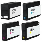HP 950XL 951XL Combo Pack of 4 Ink Cartridges