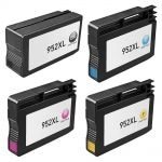 High Yield HP 952 Ink Cartridges XL Combo Pack of 4: 1 Black, 1 Cyan, 1 Magenta and 1 Yellow