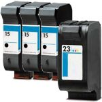 HP 15 23 Ink Cartridges Combo Pack 4