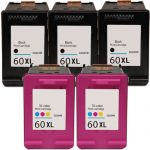 HP 60XL High Yield Black & Color 5-pack Ink Cartridges