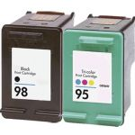 HP 98 Black & HP 95 Color 2-pack Ink Cartridges