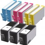 High Yield HP564XL Combo Value Pack of 9 Ink Cartridges, 3 Black, 2 Cyan, 2 Magenta, 2 Yellow