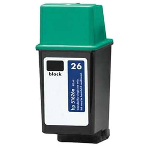 Replacement HP 26 Ink Cartridge -  51626A Black