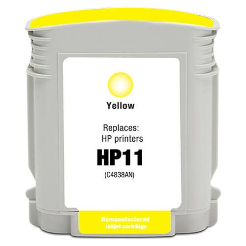 Replacement for Hewlett Packard C4838AN / C4838A (HP 11 yellow) Ink Cartridge