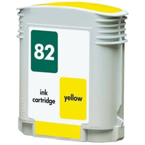 Replacement for Hewlett Packard (HP ) C4913A (HP 82) Yellow Ink Cartridge