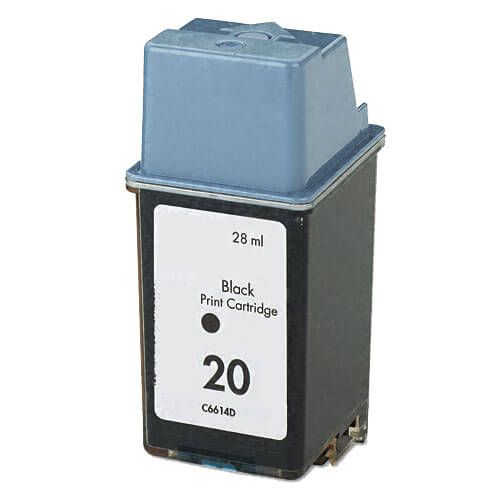 Replacement HP 20 Ink Cartridge - Black - C6614DN / C6614D