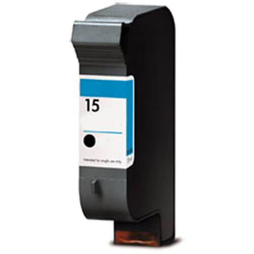 Replacement HP 15 Ink Cartridge - Black - C6615DN