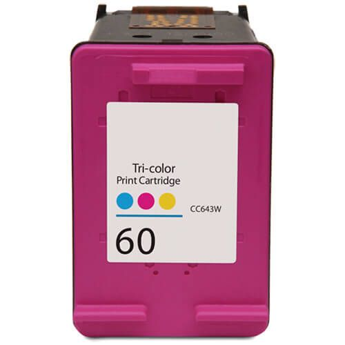 Replacement HP 60 Color Ink Cartridge - Tri-color - CC643WN