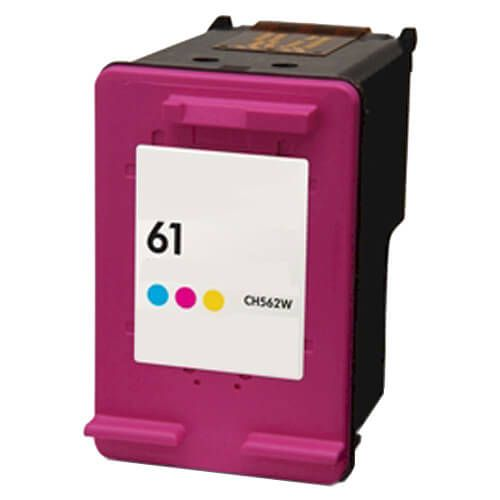 Replacement HP 61 Color Ink Cartridge - Tricolor - CH562WN
