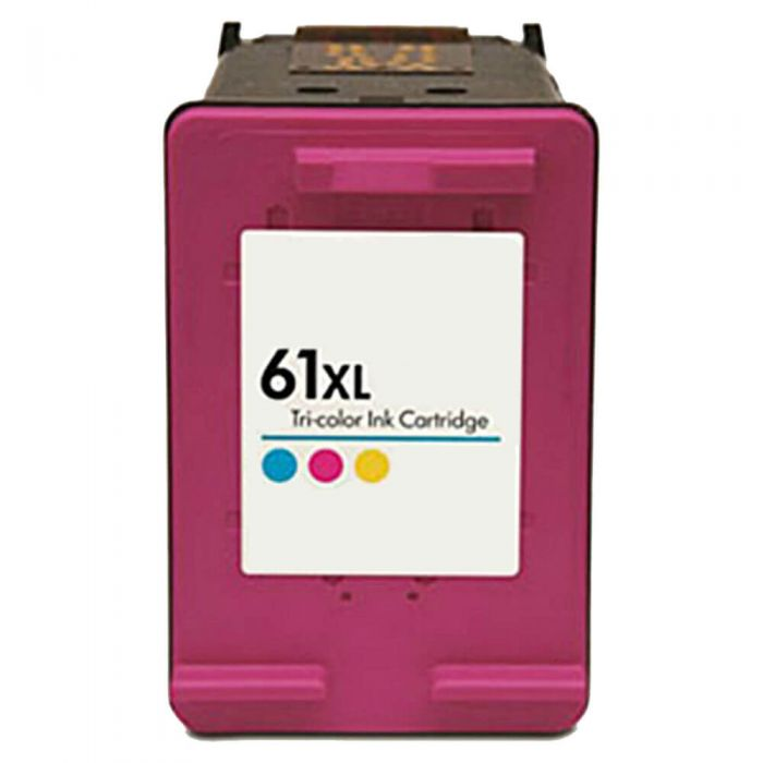 Replacement HP 61XL Color Ink Cartridge Tricolor - CH564WN - High Yield