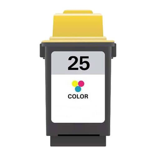 Replacement Lexmark 25 Ink Cartridge Color - 15M0125 High Yield