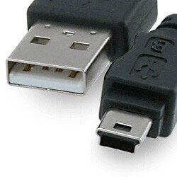 28 AWG USB 2.0 Hi-Speed A to Mini B Device Cable 6ft. / AM to Mini BM (5 pins)
