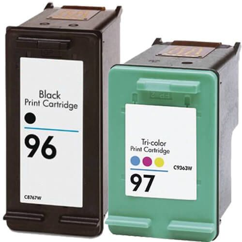 Hewlett Packard HP 96 (C8767WN) Black & HP 97 (C9363WN) Tri Color (Combo Pack of 2) Replacement Ink Cartridge