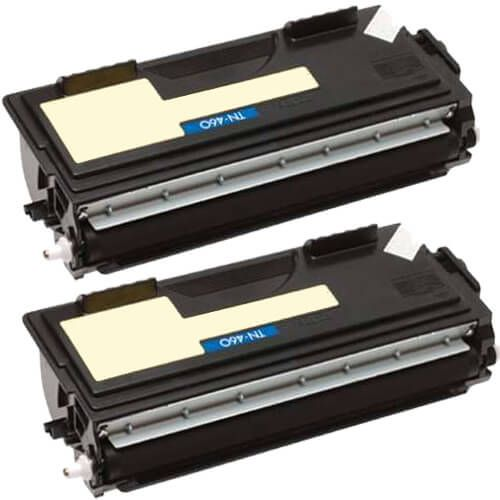 Compatible Brother TN-460 Cartridges 2-Pack - Black Toner - High Yield
