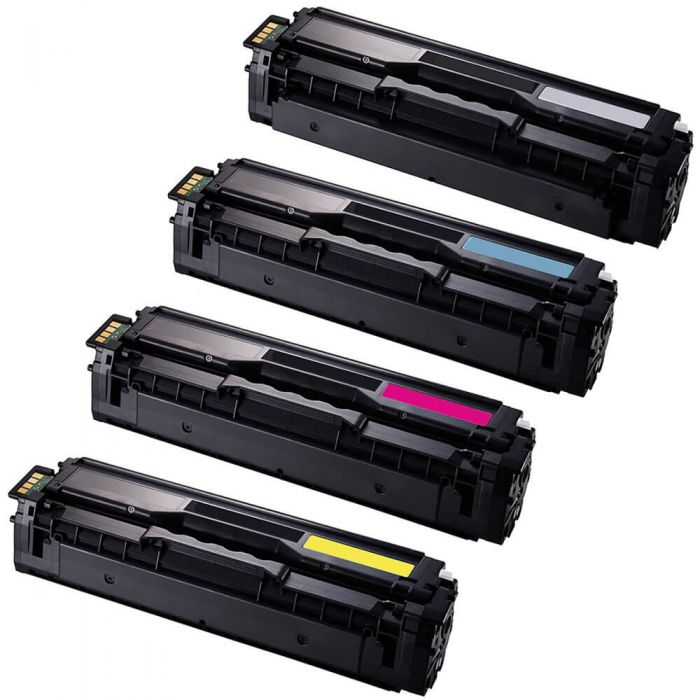 Replacement Samsung CLT-504S Toner Cartridges - 504 Value Pack of 4: 1 Black, 1 Cyan, 1 Magenta, 1 Yellow