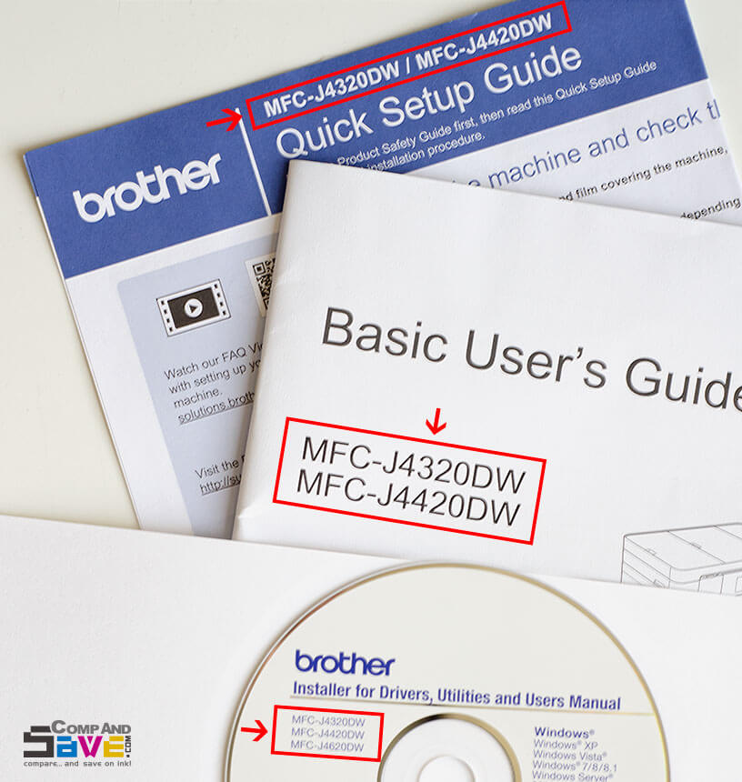 Find printer model on printer user guide or installation CD