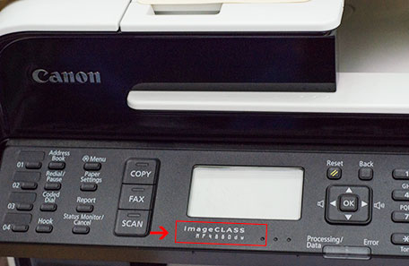 How to find printer model on Canon ImageCLASS series