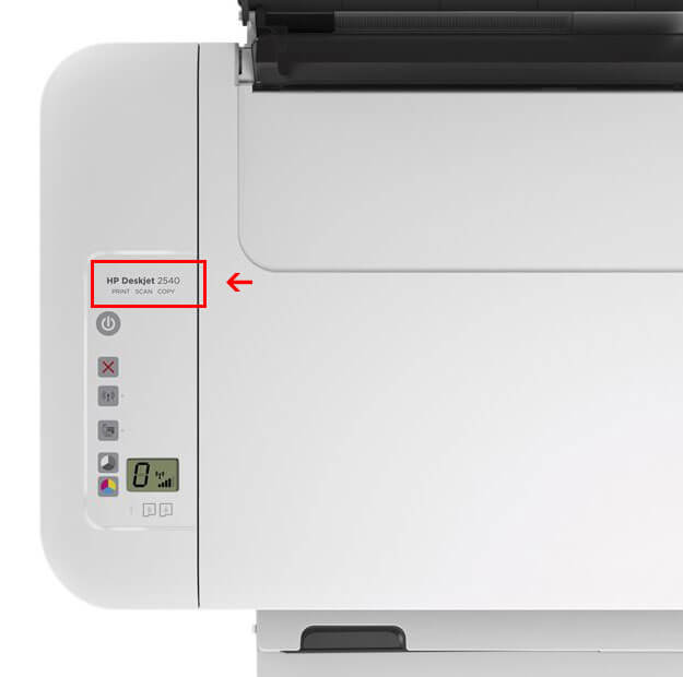 How to find printer model on HP Deskjet series
