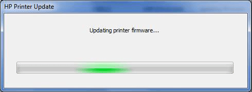 Updating printer firmware progress bar
