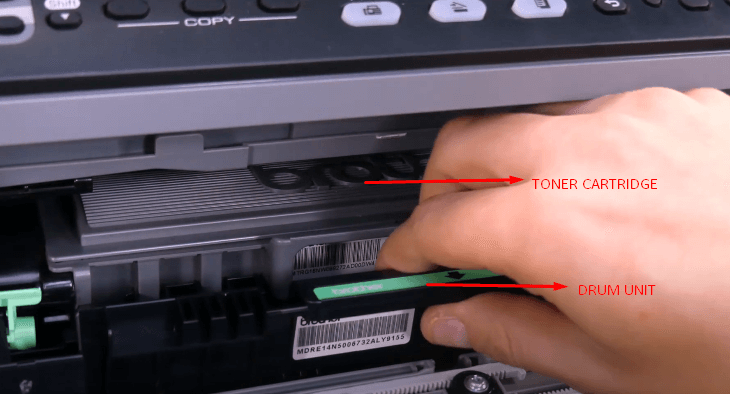 Step 3: change the toner in Brother printer