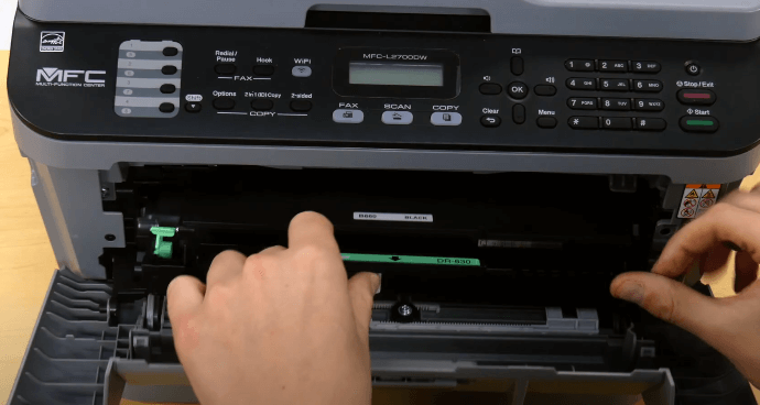 Step 7: change the toner in Brother printer
