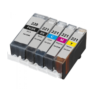 Compatible Canon Ink 220 221 Ink Cartridges