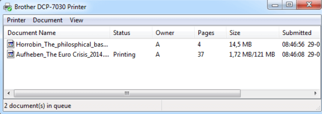 How to clear print queue?